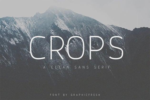 Crops Clean Sans Serif Font