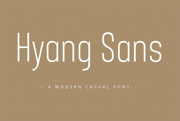 Hyang Narrow Font Sans Serif