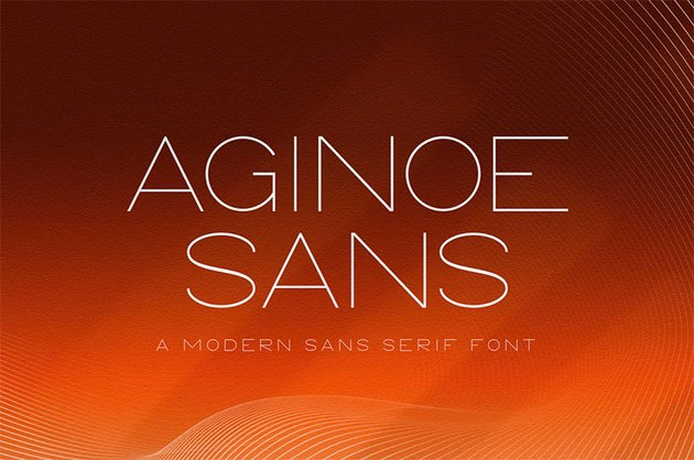 Aginoe Thin Sans Serif Font