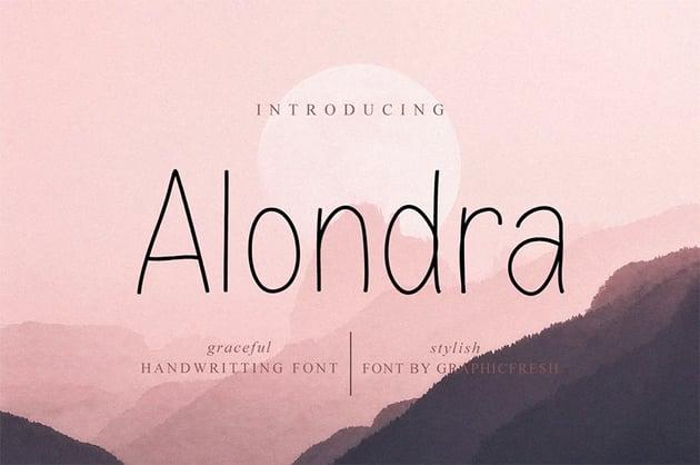 Alondra Clean Sans Serif Font