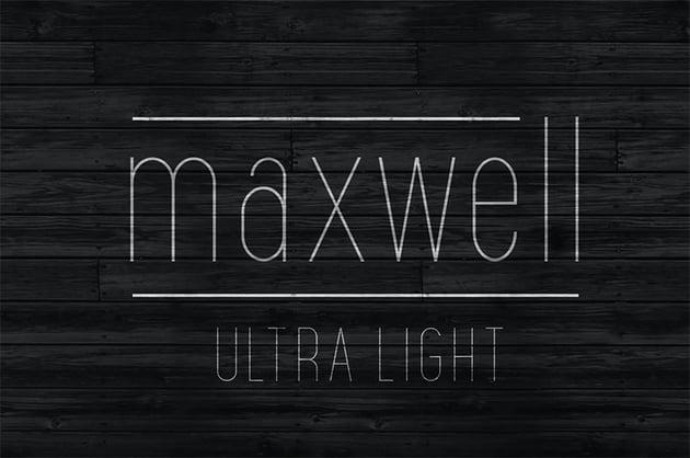 Maxwell Thin Sans Font