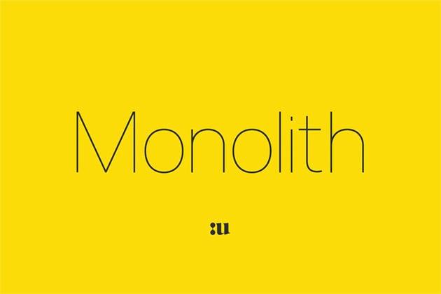 Monolith Thin Font