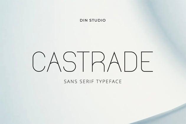 Castrade Thin Sans Serif Font