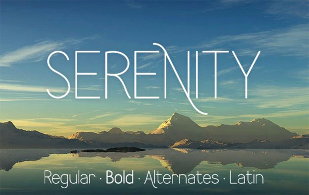 Serenity Thin Sans Font