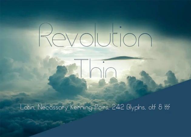 Revolution Thin Sans Serif Font