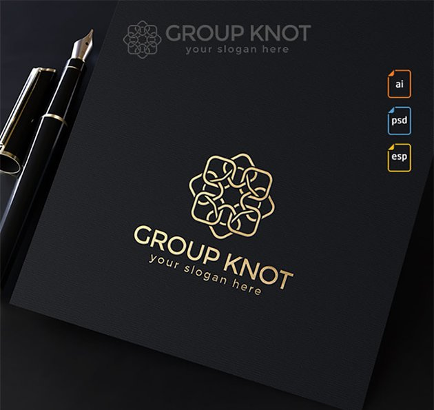 Group Knot Gold Logo