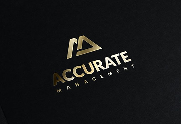 Accurate Black and Gold Logo Template