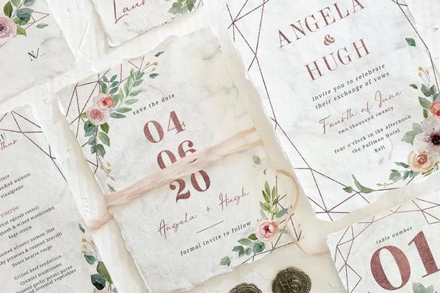 Engagement Invites Rose Gold