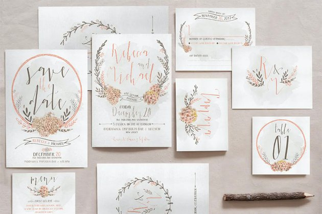Rose Gold Party Invitation