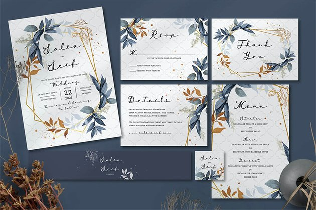 Foliage Wedding Invitation Set
