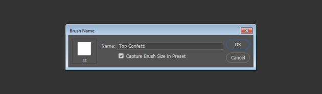 Top Confetti Brush Tip