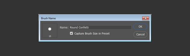 Round Confetti Brush Tip