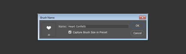 Heart Confetti Brush Tip