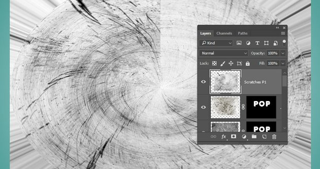 Create the Scratches Layer
