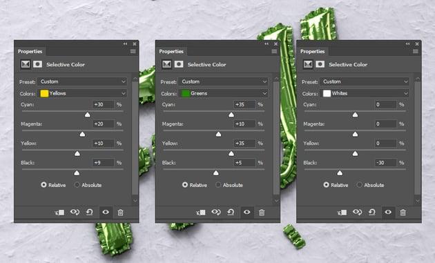 Selective Color Settings