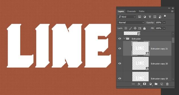 Create the Extrusion Copies