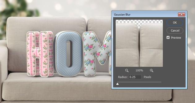 Sofa Gaussian Blur
