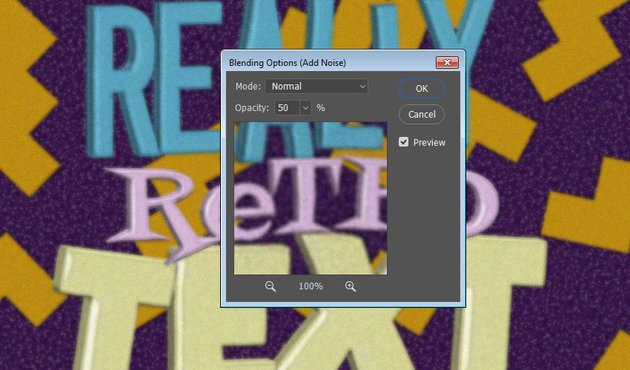 Blending Options Opacity Settings