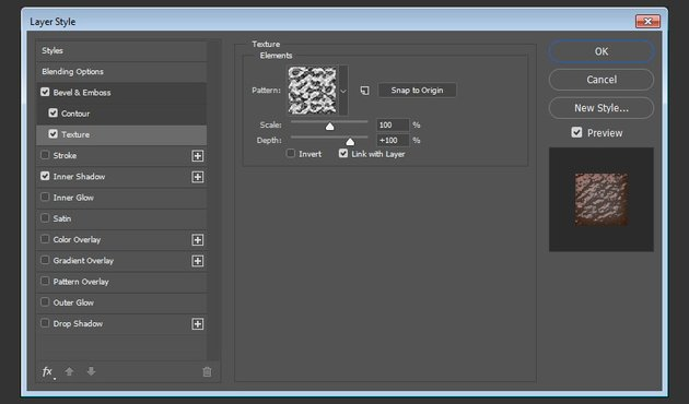 Texture layer style