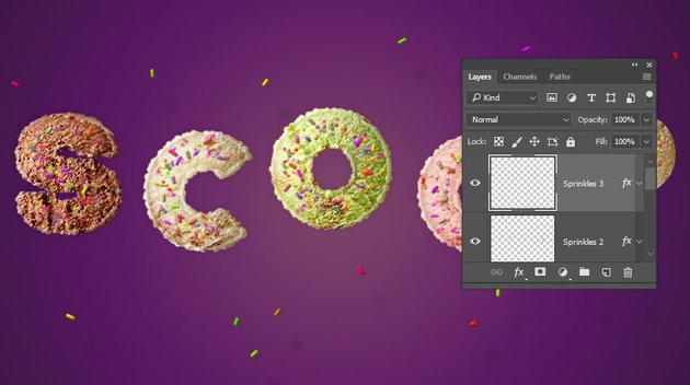 Add Sprinkles Around the Text