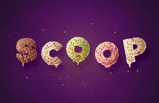 Ice Cream Scoop Text Effect Photoshop Tutorial