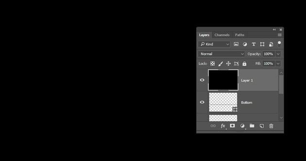 Create a Black Fill Layer