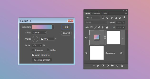 Gradient Background Fill