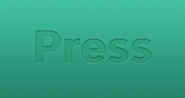 Pressed Layer Style Text Effect