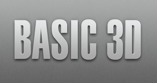 Basic 3D Layer Style Text Effect