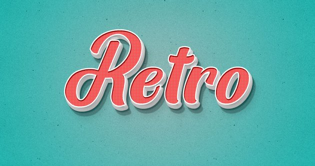 Retro Layer Style Text Effect