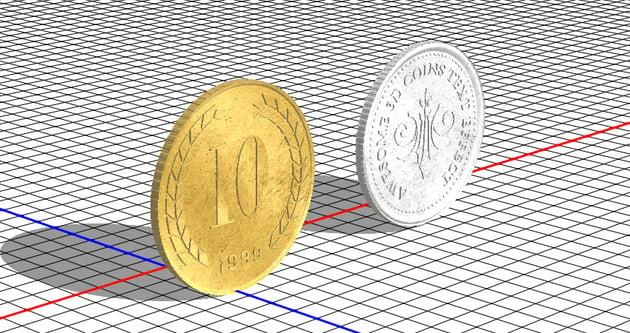 Silver Coin Extrusion Material Bump