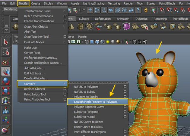 Smooth Mesh Preview to Polygons