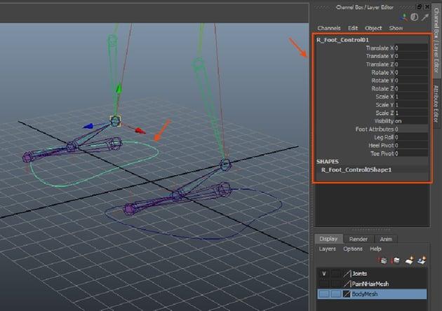 L_Foot_Control01 curve duplicate