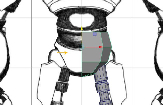 Select and delete the half part of the mesh