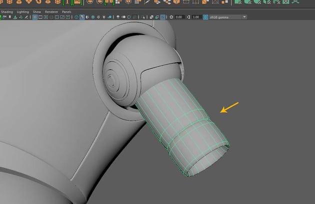 Press 3 key to make the mesh smooth