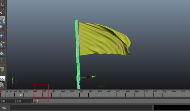 Animate the flag pole