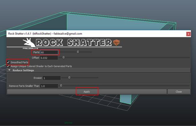 Apply Rock Shatter