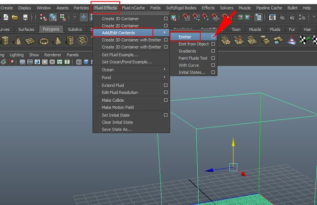 Fluid Effects  Add Edit Contents  Emitter