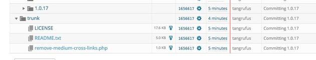 WordPress plugin subversion trac