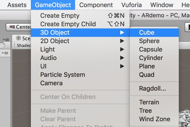 Adding a cube object