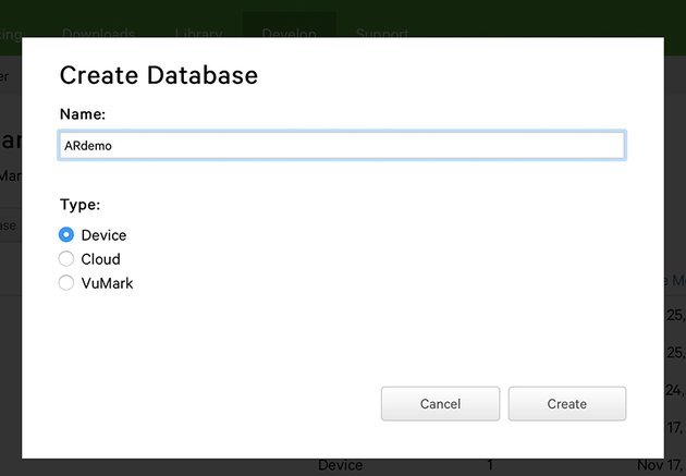 Creating Database for targets