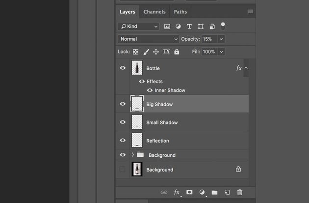 Select the layers in the Layers Panel