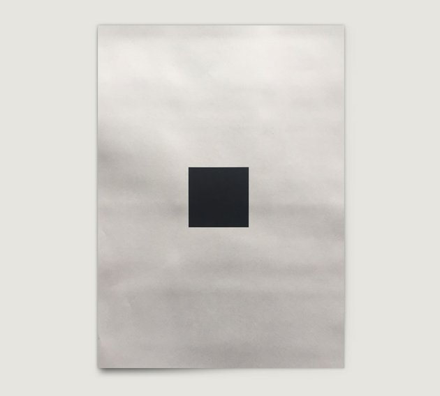 Black square printed