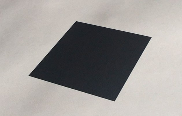 Black square perspective