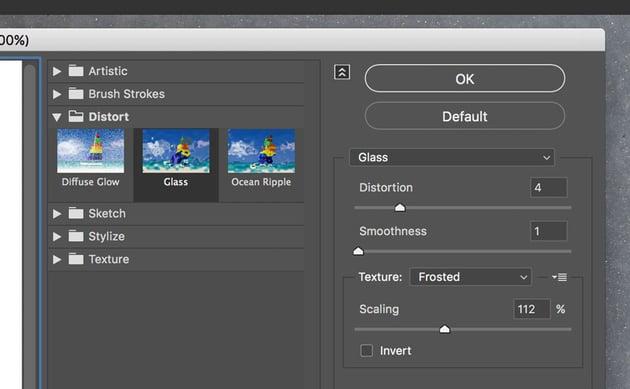 Filter Gallery dialog box