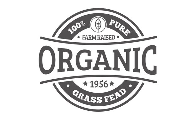 Organic badge from 30 Vintage Style Badges and Logos item