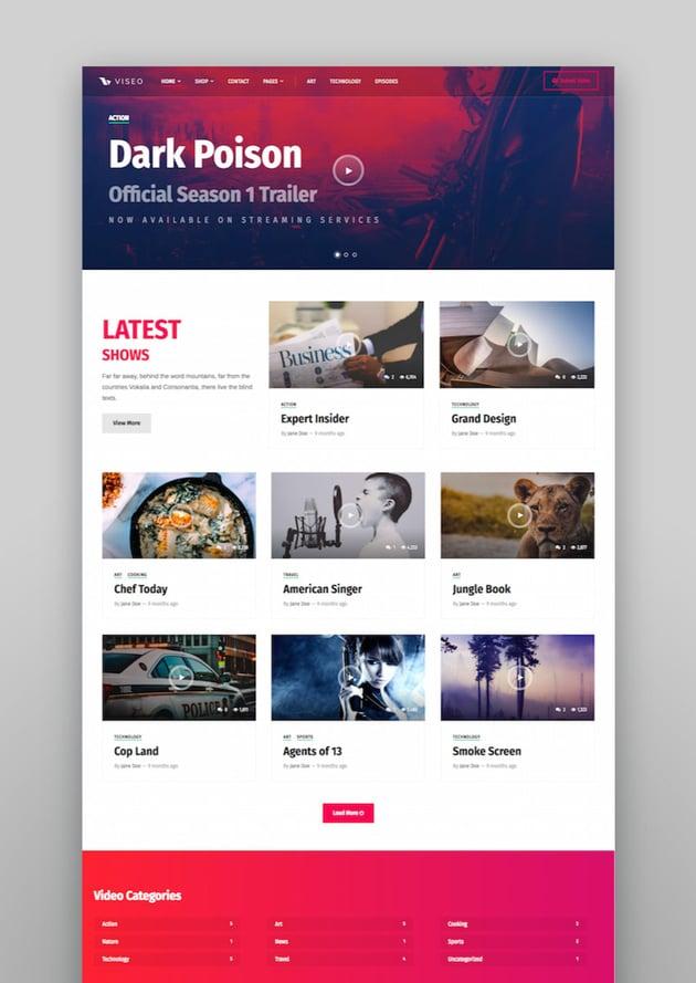 Viseo: Tema de WordPress para podcast, noticias y vídeo