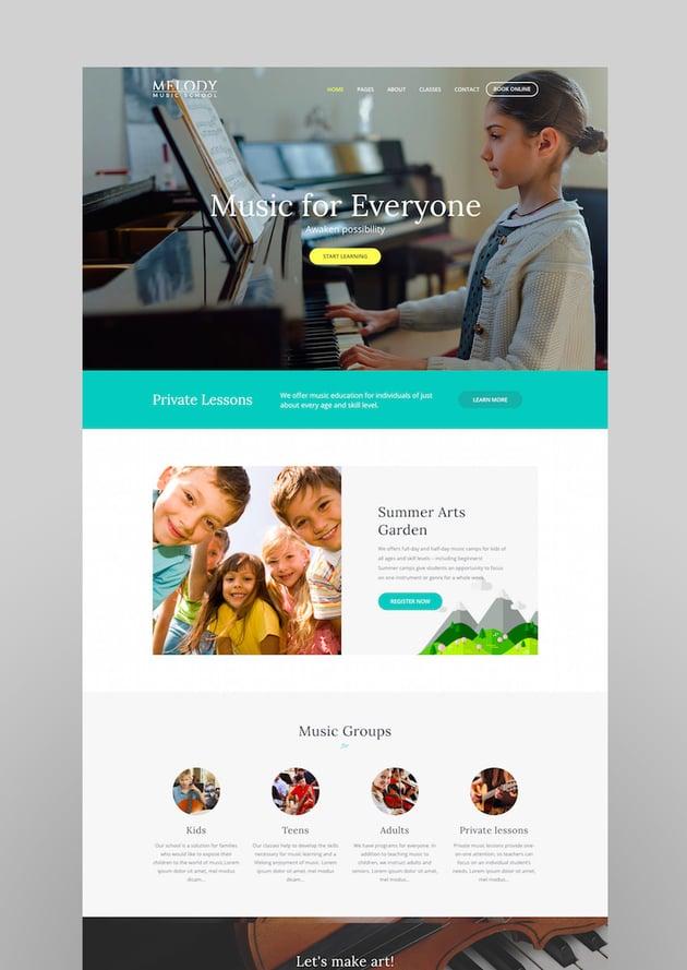 Melody - Music School WordPress Theme