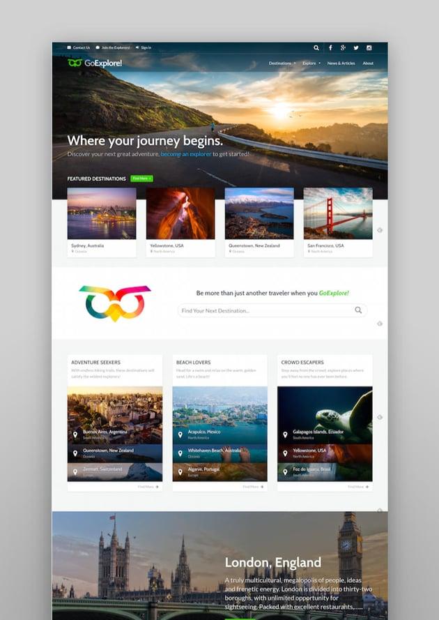 Travel WordPress Theme - GoExplore