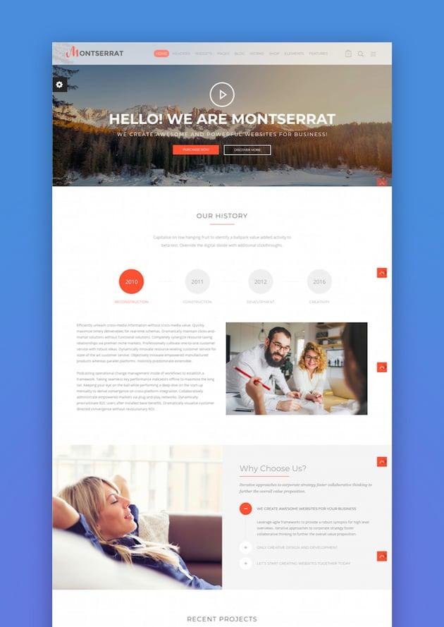 Montserrat - Multipurpose Modern WordPress Theme